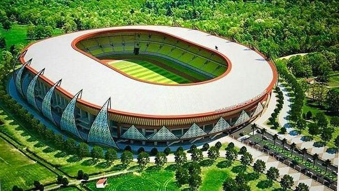 Stadion Papua Bangkit. (Instagram @stadionpapuabangkit)