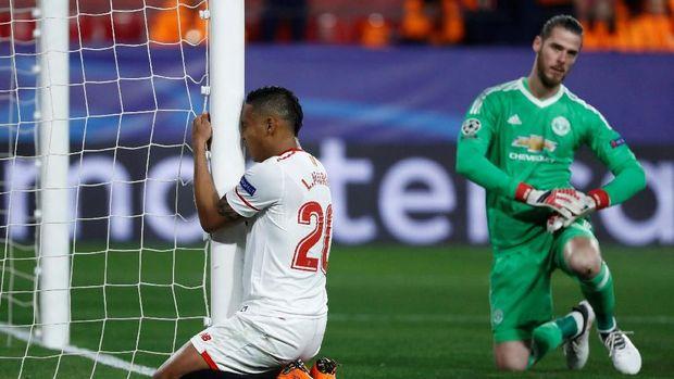 Luis Muriel meratapi kegagalan mencetak gol berkat kegemilagan David De Gea.