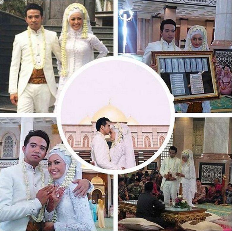 Roby Geisha dan Cinta Ratu menikah 29 Oktober 2015. Foto: Dok. Instagram/cinta_ratu_nansya