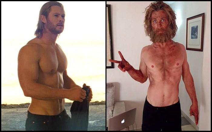 Untuk berperan dalam film laga Thor lalu film drama In The Heart Of The Sea, aktor Cris Hemsworth harus diet ekstrem yang membuatnya kehilangan sekitar 7 kilogram berat badan. (Foto: Instagram)