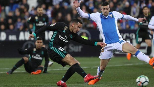 Lucas Vazquez mencetak gol pertama Real Madrid ke gawang Leganes.