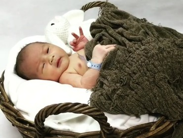 Baby Nord lagi siap-siap photoshoot nih. (Foto: Instagram @rinni_w)