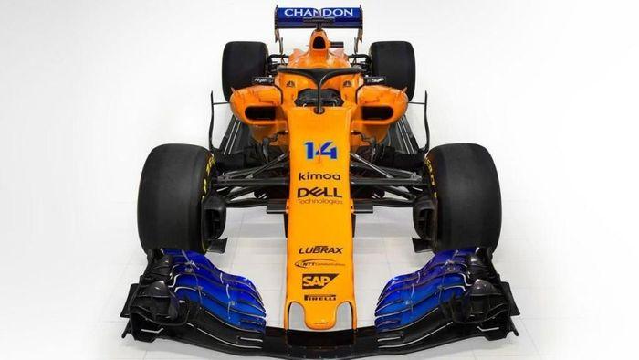 Mobil McLaren Fernando Alonso di musim 2018 (formula1.com)