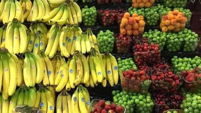 Jejeran Sayuran dan Buah Keren di Supermarket