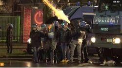 Demonstran Antifasis di Italia Bentrok dengan Polisi