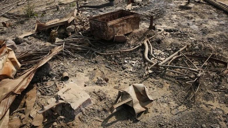 Foto Satelit Perlihatkan Desa Rohingya Dibuldoser Myanmar