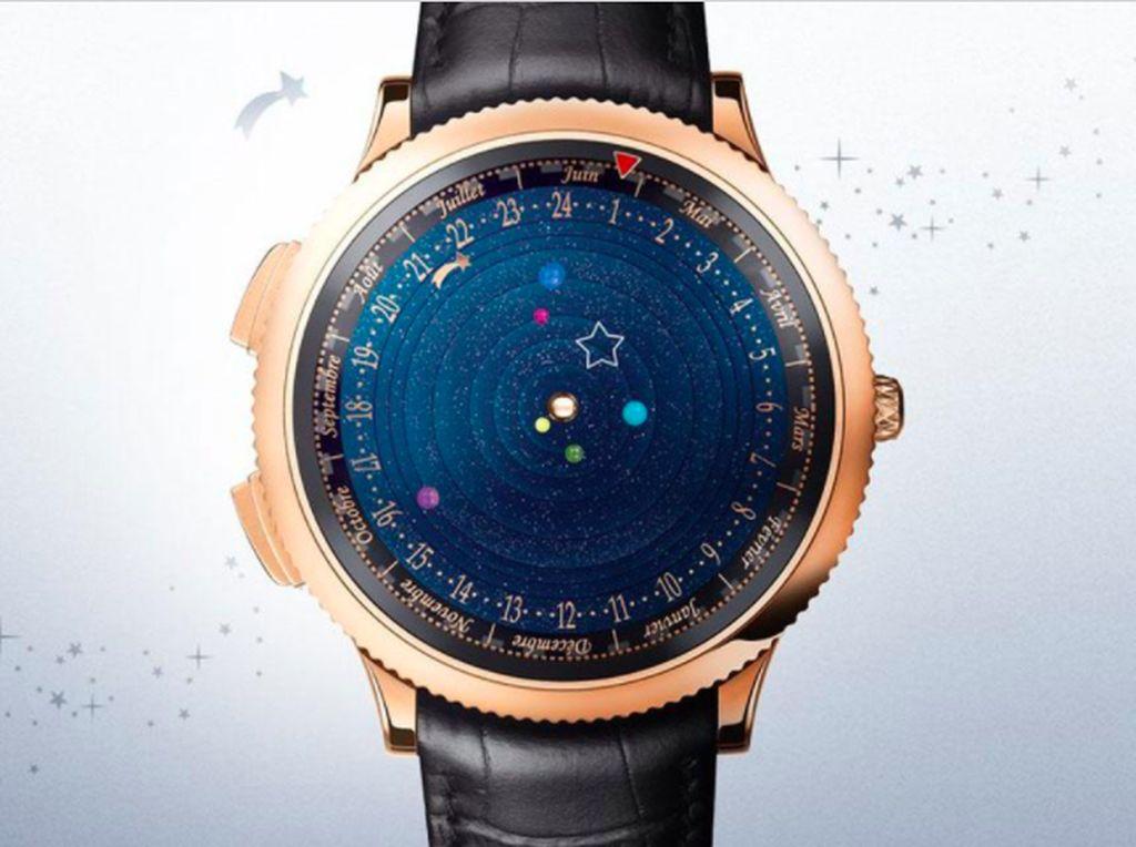 Arloji Astronomical Watch berdesain menarik yang memperlihatkan pergerakan tata surya. Foto: Brightside