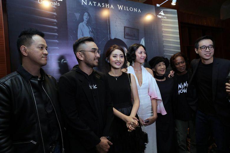 Natasha Wilona menghadiripremiere film Nini Thowok di Plaza Senayan beberapa waktu lalu. Film bergenre horor itu adalah film perdana untuk Natasha. Foto: Istimewa