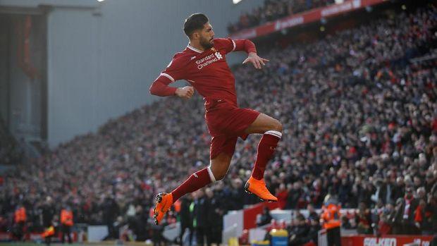 Emre Can mencetak gol pembuka Liverpool. (