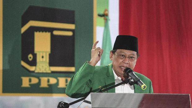 Eks Ketua Umum PPP versi Muktamar Jakarta Djan Faridz, di Jakarta, awal tahun lalu.