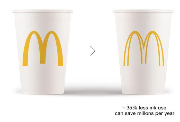 Ecobranding, merupakan sebuah ide yang merombak logo perusahaan menjadi lebih ramah lingkungan. Penggunaan lebih minim tinta dipercaya bisa lebih hemat energi. Istimewa.