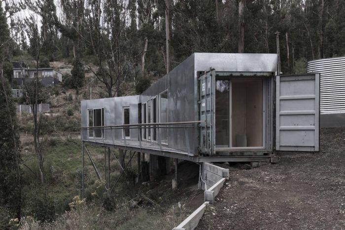 Rumah kontainer ini dibuat Studio Edwards berbasis di Melbourne, Australia. Istimewa/Inhabitat.
