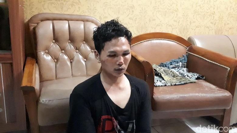 Foto: Sosok Pria yang Diamankan Polisi karena Bikin Gaduh di Masjid