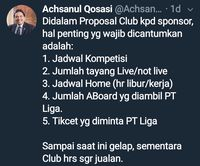 Curhat Achsanul Qosasi dan Upaya Menjual Sepakbola