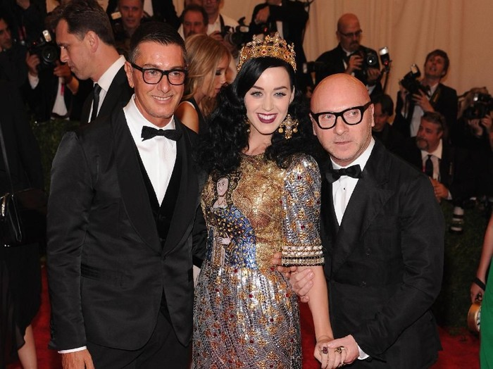NEW YORK, NY - MAY 06: Designer Stefano Gabbana (L) and designer Domenico Dolce attend the Costume Institute Gala for the