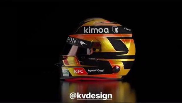 Ada 'Indonesia' di Helm Pebalap F1 Ini