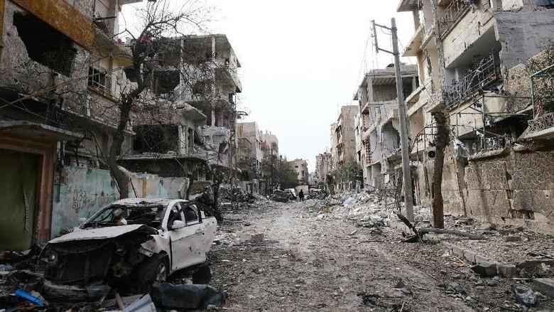 Foto: Douma Hancur Lebur karena Perang Suriah