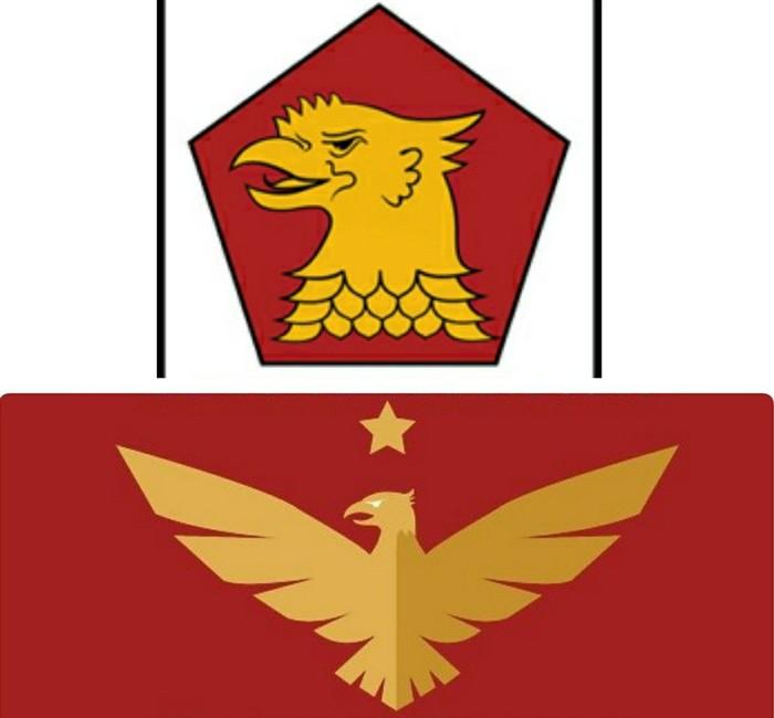 Lambang Partai Gerindra (atas) dan Partai Garuda (bawah). (Dok Istimewa)