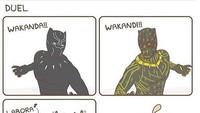 Maksudnya Andeca-andeci ya bora-bori, tapi nama kampung halaman TChalla aka Black Panther malah kena lelucon. Foto: ist