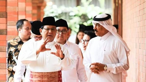Saat Prabowo Terima Kunjungan Dubes Qatar di Padepokan Miliknya