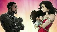 Gaya Wonder Woman dan Black Panther ternyata mirip. Foto: ist