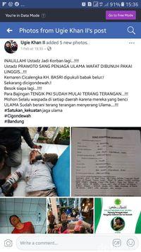 Polisi Tangkap Penyebar Hoax Ulama Jabar Diserang PKI