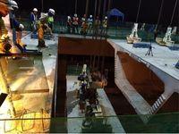 Pengangkatan box girder terakhir di Jalan Tol Bogor Outer Ring Road (Foto: dok. Jasa Marga)