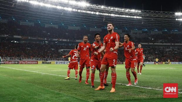 Persija Jakarta melesakkan empat gol ke gawang Tampines Rovers pada pertemuan pertama di SUGBK.
