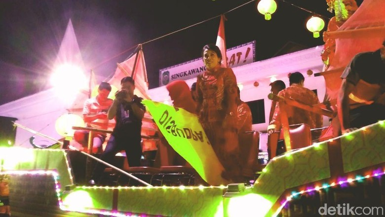 Foto: Pembukaan festival lampion (Johanes Randy/detikTravel)