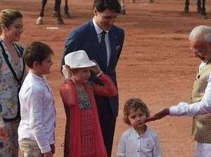Tingkah Gemas Putra Bungsu PM Kanada di India yang Curi Perhatian