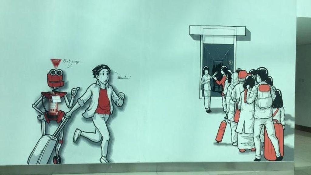 Mural-mural Kreatif di Terminal 3 Bandara Soetta