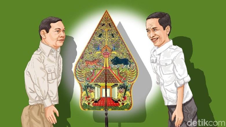 Plus Minus Jokowi-Maruf Amin vs Prabowo-Sandiaga Uno
