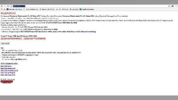 Kominfo Sebut Situs Berikan NIK dan KK Gratis Pelanggaran
