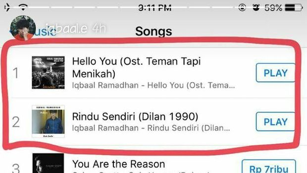 2 Lagu Iqbaal Ramadhan Puncaki Chart iTunes
