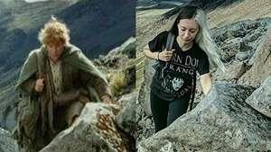 Keren! Wanita Ini Membuat Foto Reka Adegan Lord of The Ring