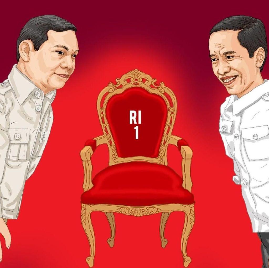 Kostum Pendukung di Debat: Pro-Jokowi Jaket Bomber, Pro-Prabowo Kemeja Biru