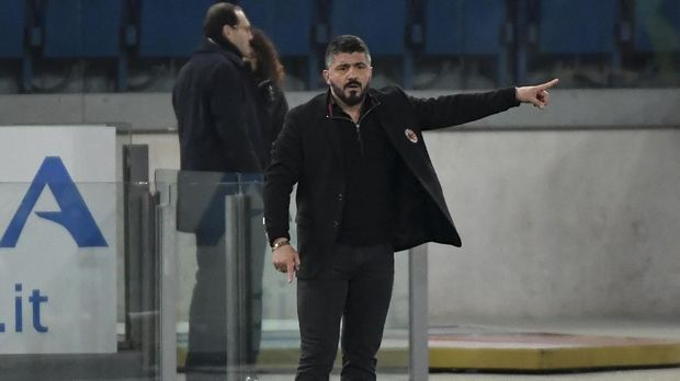 Gennaro Gattuso menjadi tokoh di balik layar tren positif Milan,