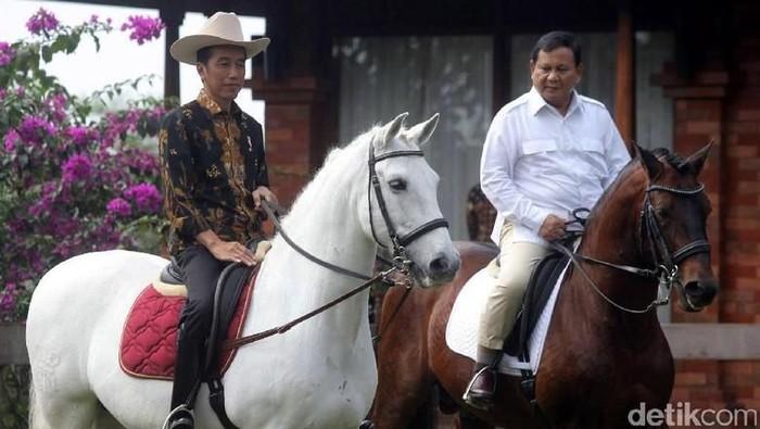 Presiden Jokowi dan Ketum Gerindra Prabowo Subianto. (Dok. detikcom)