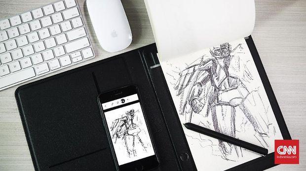 Menjajal Tablet Ubah Goresan di Kertas Jadi Format Digital