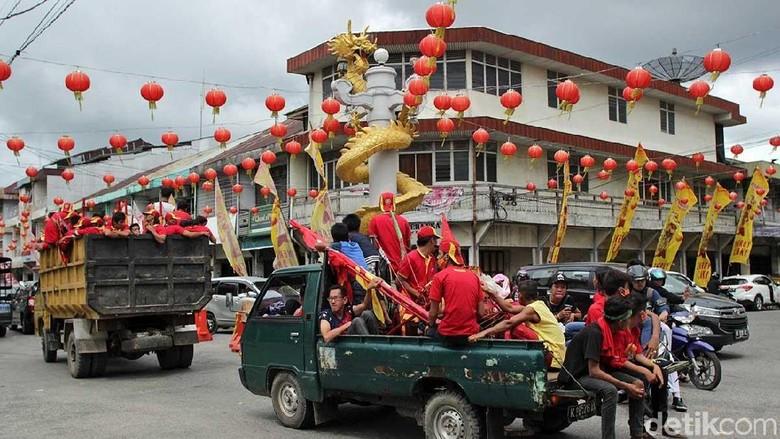 Jalan Niaga di pusat Kota Singkawang (Randy/detikTravel)