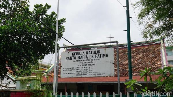 Gereja Santa Maria de Fatima terletak di Jalan Kemenangan 3, Tamansari, Glodok (Shinta/detikTravel)