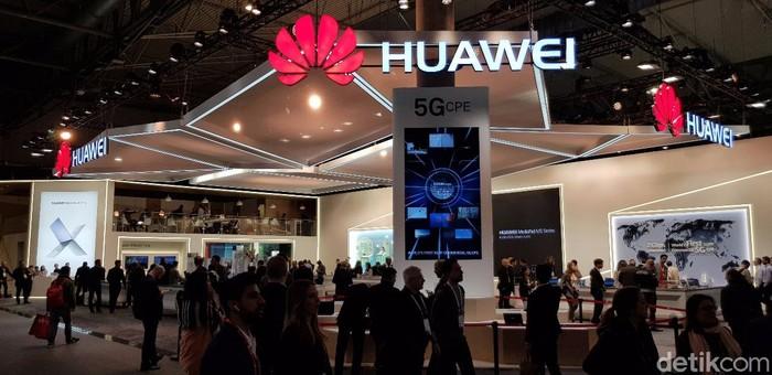 Ilustrasi logo Huawei. Foto: detikINET/Achmad Rouzni Noor II