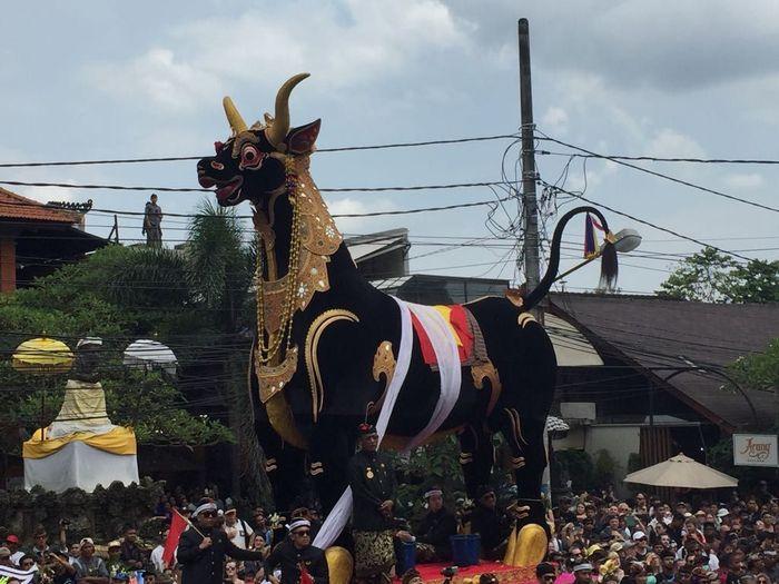 Foto itu diambil saat acara di Puri Agung Ubud, Gianyar saat ngaben. Dok. Kementerian KKP.
