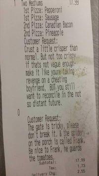 Pesan Pizza Lewat Jasa Antar, Pembeli Ini Tulis Catatan Khusus yang Kocak!