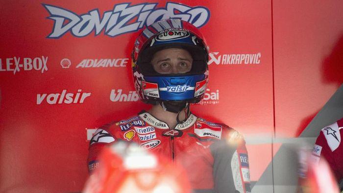 Andrea Dovizioso mengaku belum membicarakan kontrak baru dengan Ducati. (Foto: Mirco Lazzari gp/Getty Images)