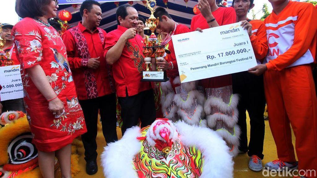 Mandiri Barongsai Festival Sukses Digelar