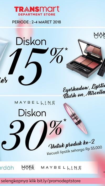 Foto: Pesta Diskon Kosmetik (Dok. Transmart Carrefour)