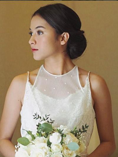 Makeup Putri Marino Saat Jadi Pengantin. Foto: Instagram