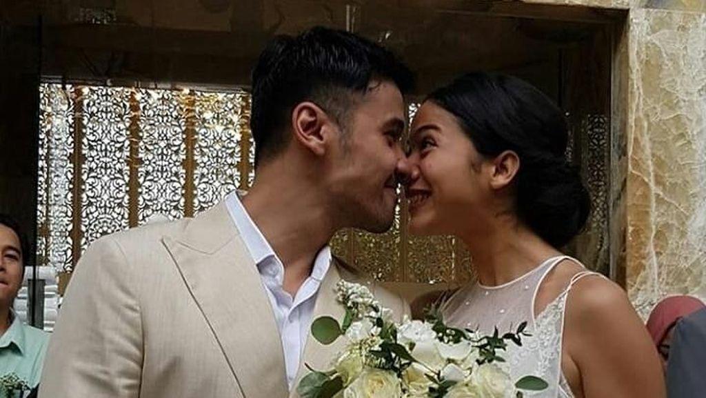 Menikah dengan Chicco Jerikho, Putri Marino Cantik Bergaun Pengantin Simpel