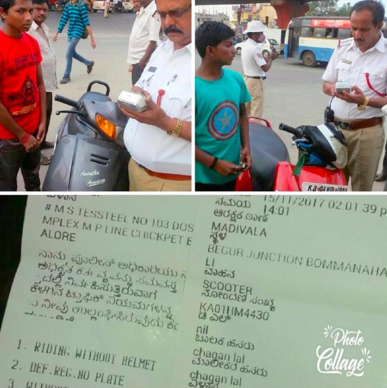 Kepolisian di daerah Hyderabad dengan tegas bakal memenjarakan orang tua yang kedapatan membiarkan anaknya berkendara tanpa SIM. Foto: Rushlane